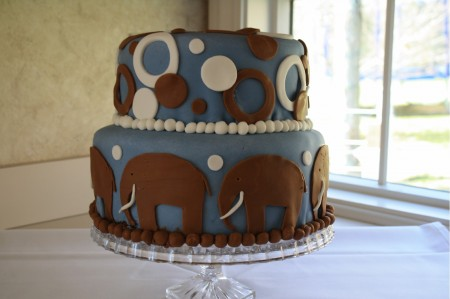 Baby Shower Cake, Completed