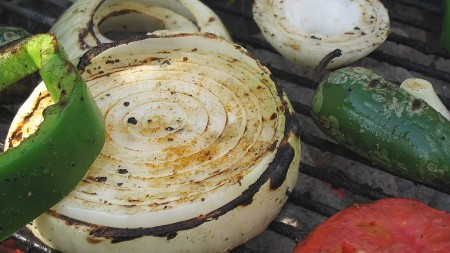 Vegetables Grilled on a Charcoal Grill