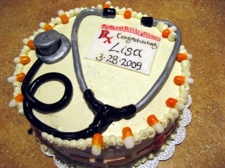 Nurse Cake with Fondant Stethoscope
