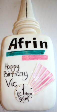 Afrin Cake for Miss Vicki's Birthday