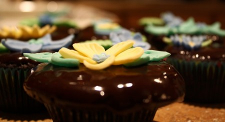 Our Cute Flowered Cupcakes