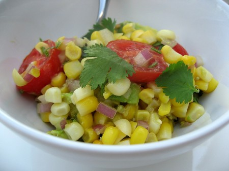 Corn, Avacado & Tomato Salad
