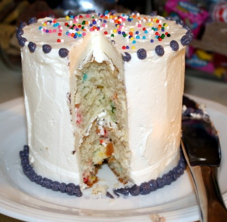 "The Inside of a ""Tasting"" Cake"