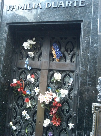 The Tomb of Eva Peron in Recoleta Cemetery