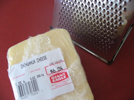 Chihuahua cheese for chicken tacos...delicious