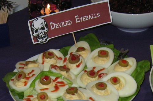Deliciously deviled eyeballs...