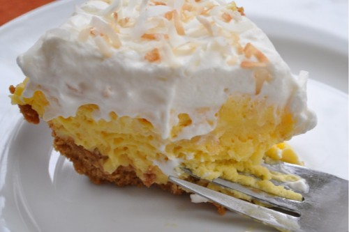 Coconut Cream Pie with Whipped Cream topping