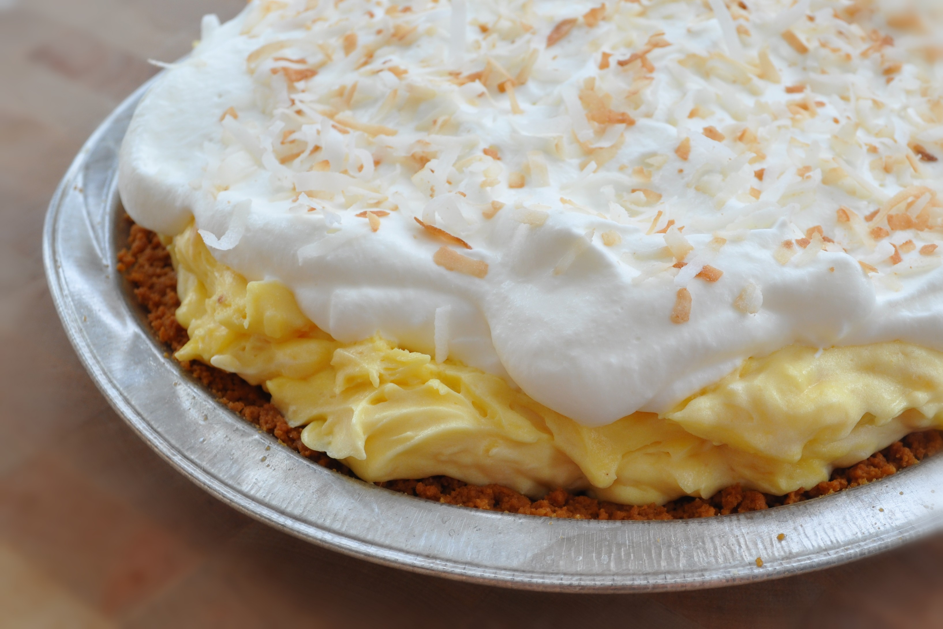 Dreamy Coconut Cream Pie » coconut-cream-pie-whole-6