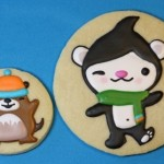 Sweetopia's Olympic Mascot Cookies - Miga and Muk Muk