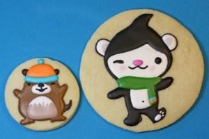 Sweetopia's Olympic Mascot Cookies - Miga and Muk Muk