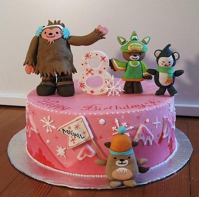 Anna Elizabeth Cake's Olympic Mascot Cake
