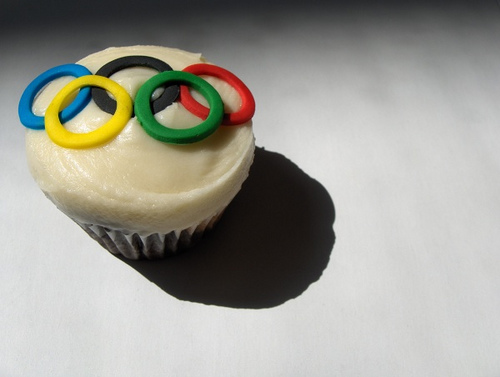 Clever Cupcake's Olympic Ring Cupcake