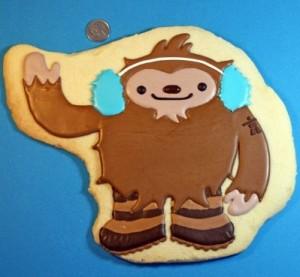 Sweetopia's Olympic Mascot Cookies - Quatchi