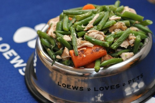 The Loews Vanderbilt Chicken Chow Chow off of the pet room service menu