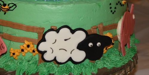 Royal Icing Sheep for Baby Shower Cake