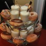 mini milk and donuts
