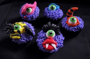 Cool Monster Cupcakes