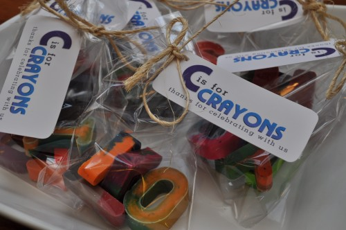 C is for Crayons - Party Favors