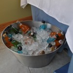 Colorful Sodas in a metal bucket